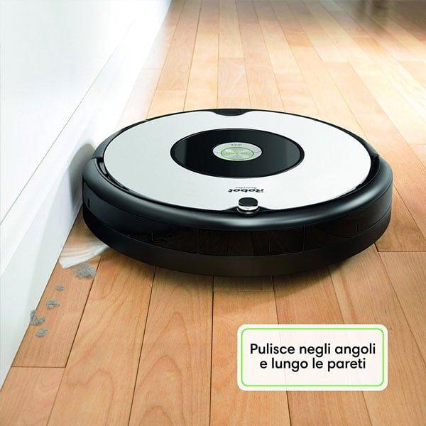 Adatto a Pavimenti e Tappeti 33 watt Autonomia fino a 1 ora Bianco iRobot Roomba 605 Robot Aspirapolvere Sistema di Pulizia ad Alte Prestazioni Ottimo per i Peli degli Animali Domestici